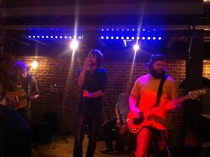 L'un des groupes star de la soirée : Rorsha,quatuor parisien formé en 2009