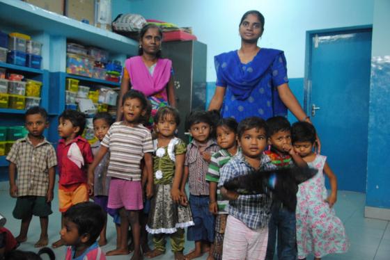 La crèche de Speed Trust est ouverte tous les jours pour les enfants de moins de trois ans. Au programme : jeux et collations à toute heure. © AR